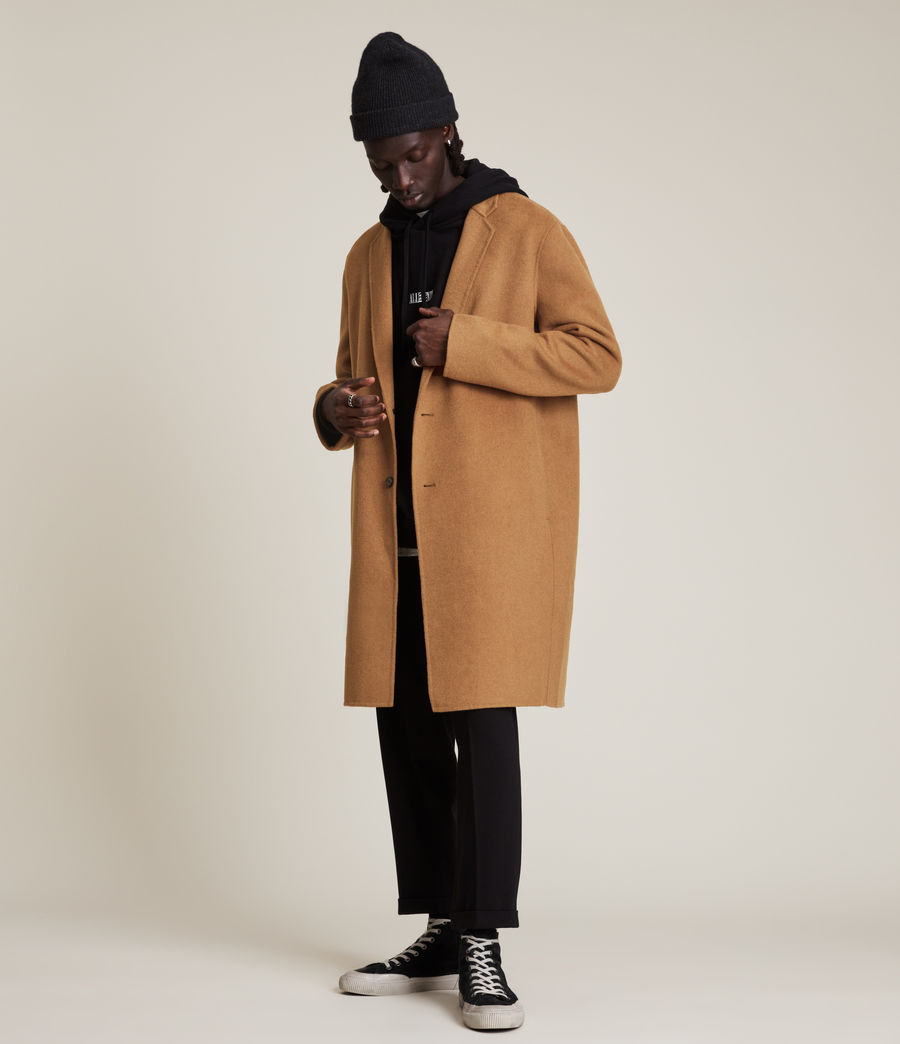 Men's Hanson Wool Blend Coat (tabacco) - Image 1