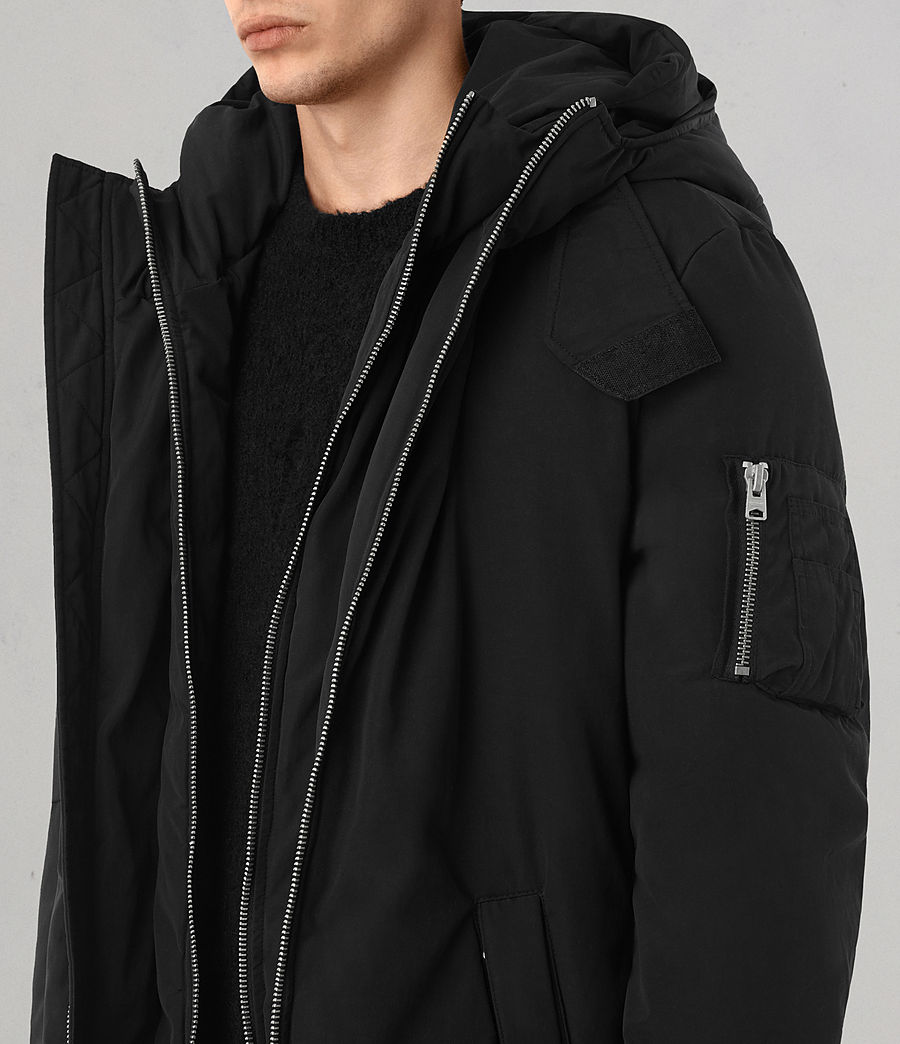 Mens Shields Parka (black) - Image 2