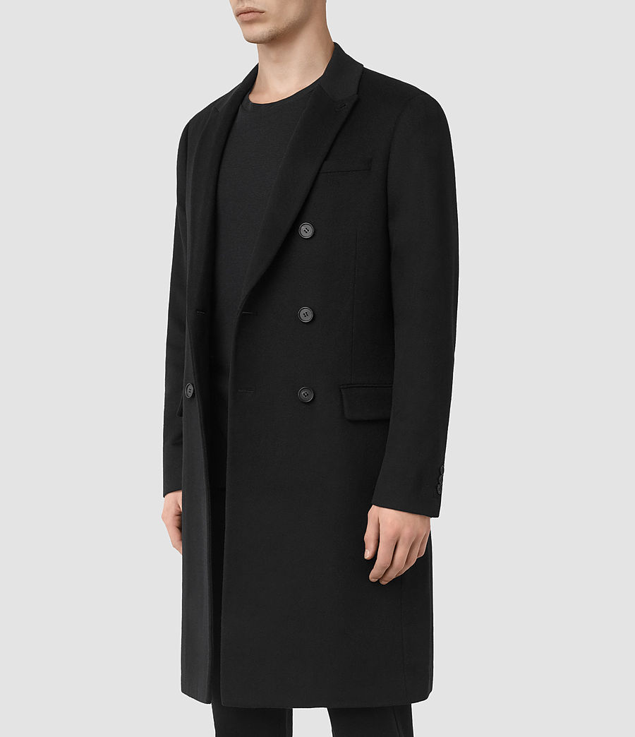 Mens Strand Coat (black) - Image 2