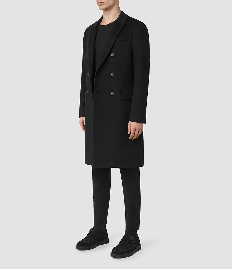 Mens Strand Coat (black) - Image 3