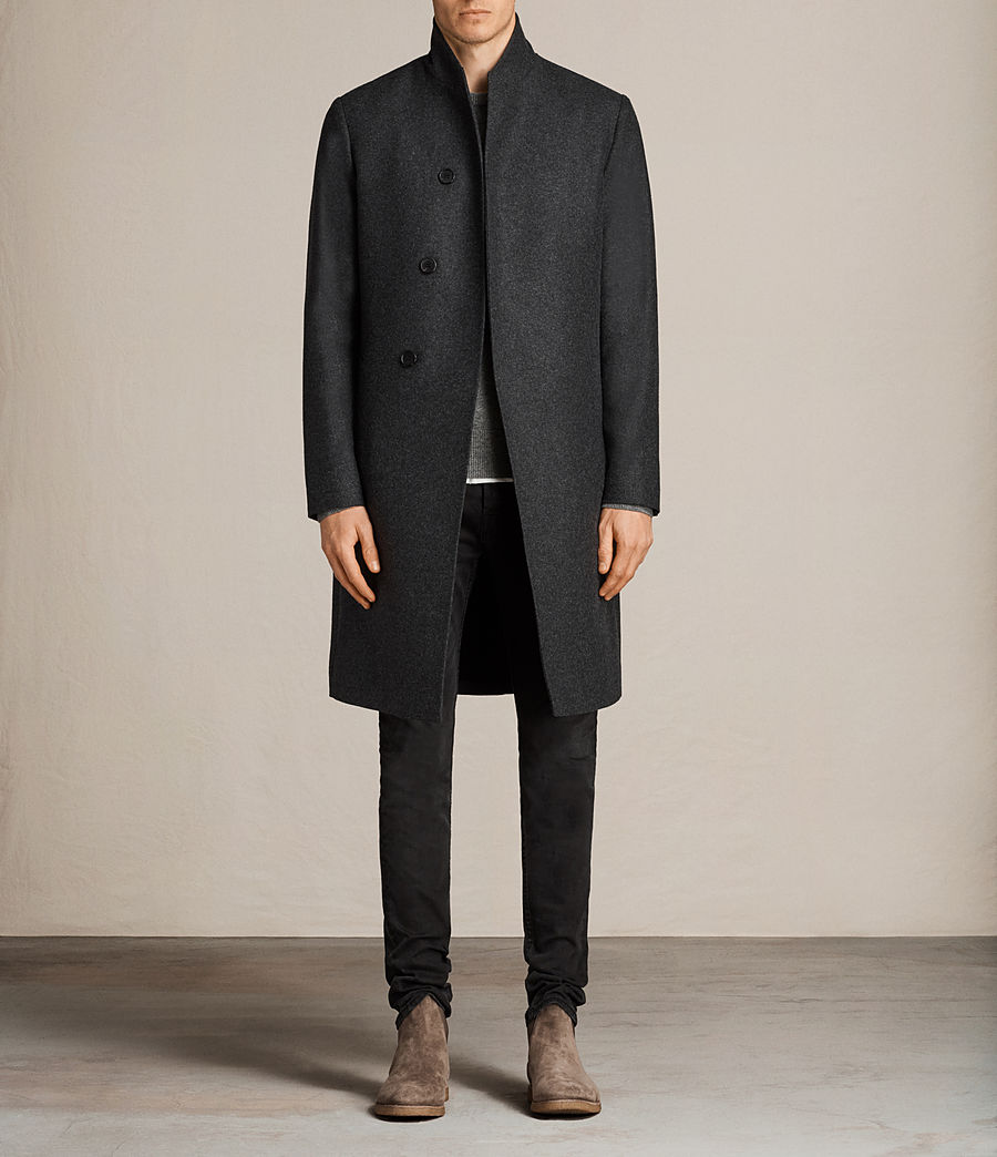 Mens Kessler Coat (charcoal_grey) - Image 1