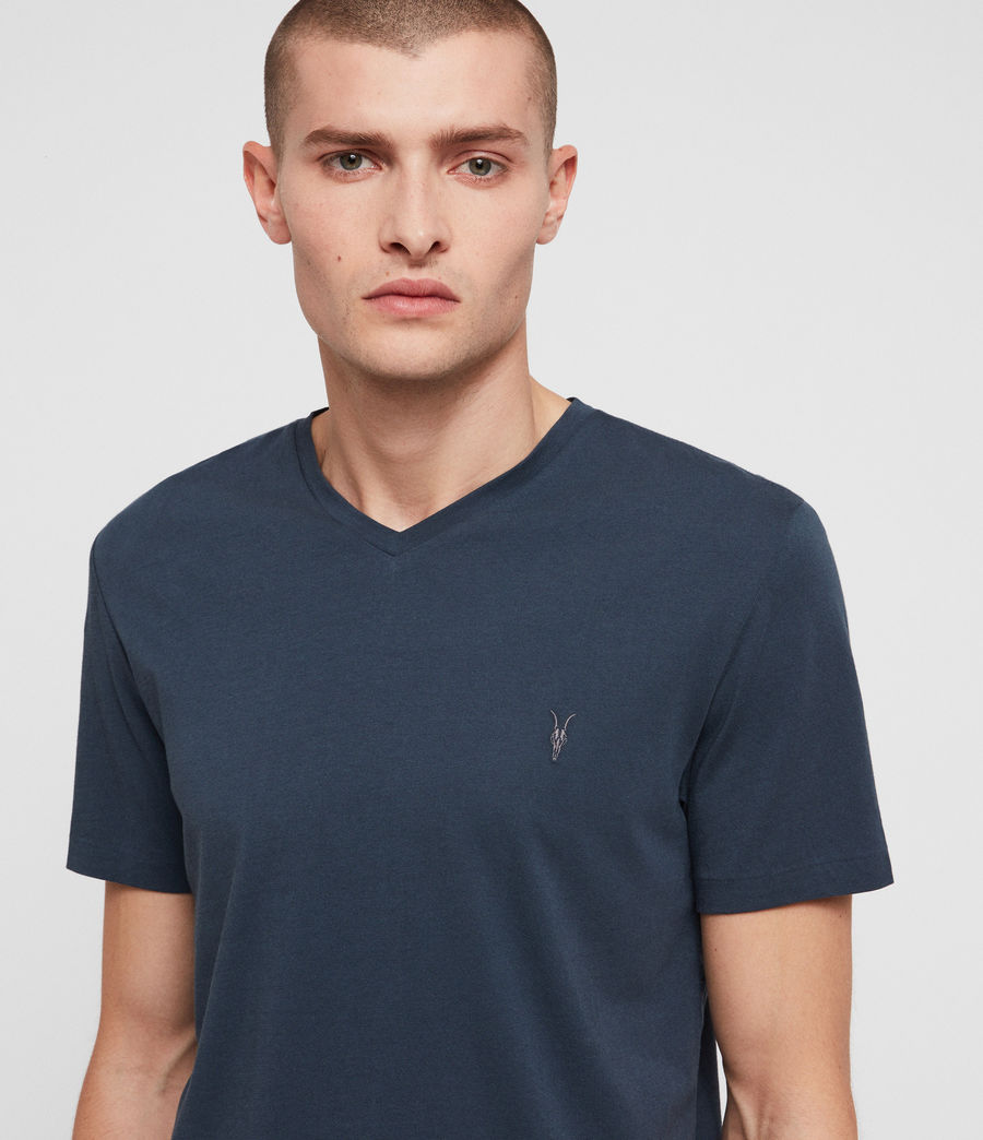 Hommes T-Shirt Tonic Col V (pacific_blue) - Image 2