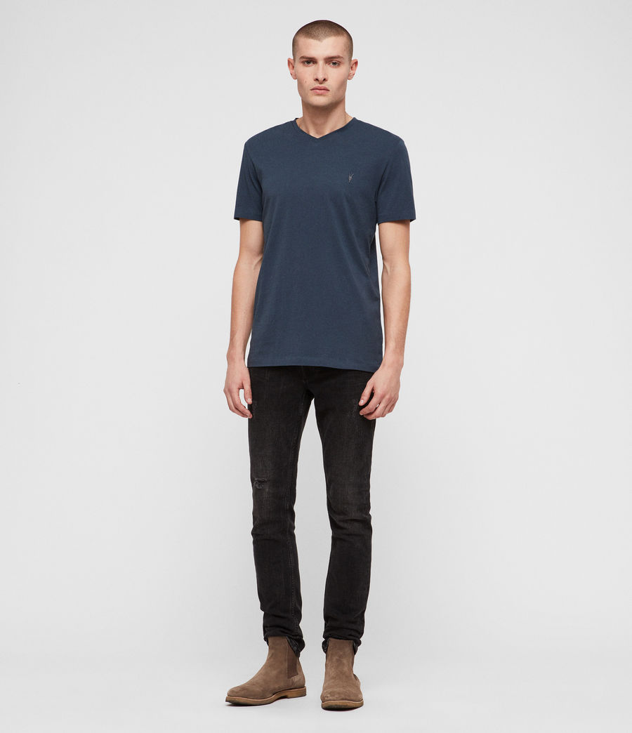 Hommes T-Shirt Tonic Col V (pacific_blue) - Image 3