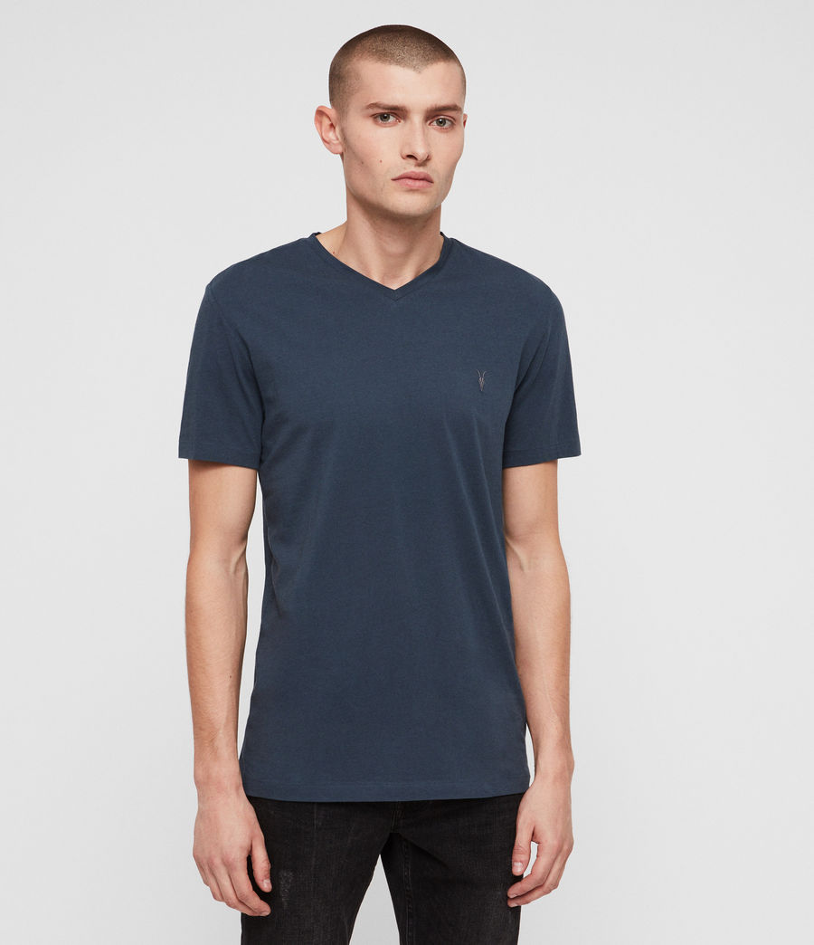 Hommes T-Shirt Tonic Col V (pacific_blue) - Image 4