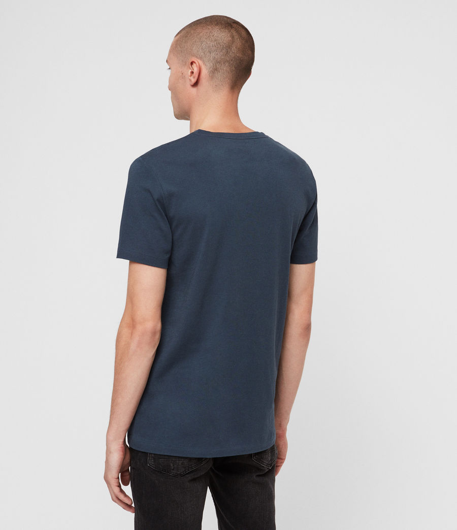 Hommes T-Shirt Tonic Col V (pacific_blue) - Image 5