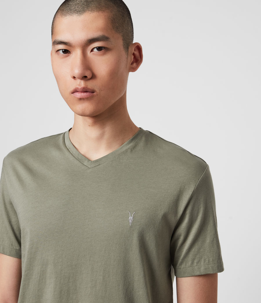 Hombres Tonic V-Neck T-Shirt (olive_green) - Image 1