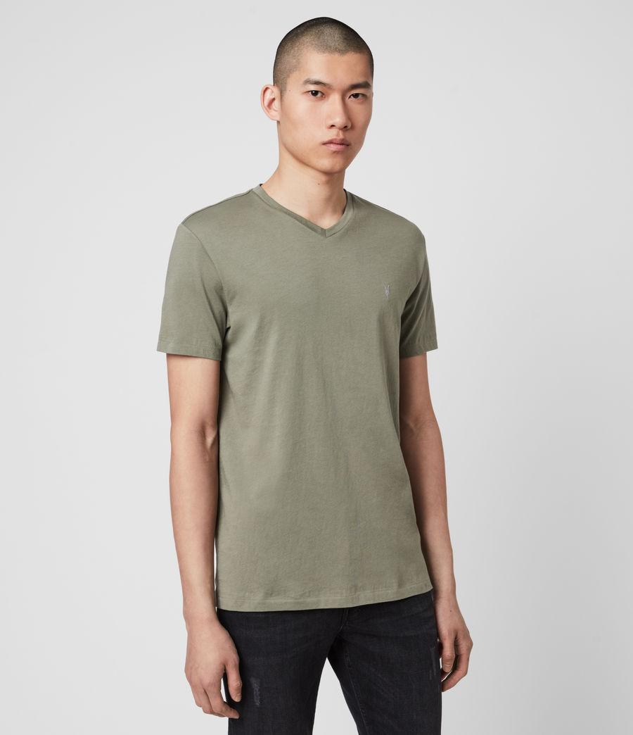 Hombres Tonic V-Neck T-Shirt (olive_green) - Image 2