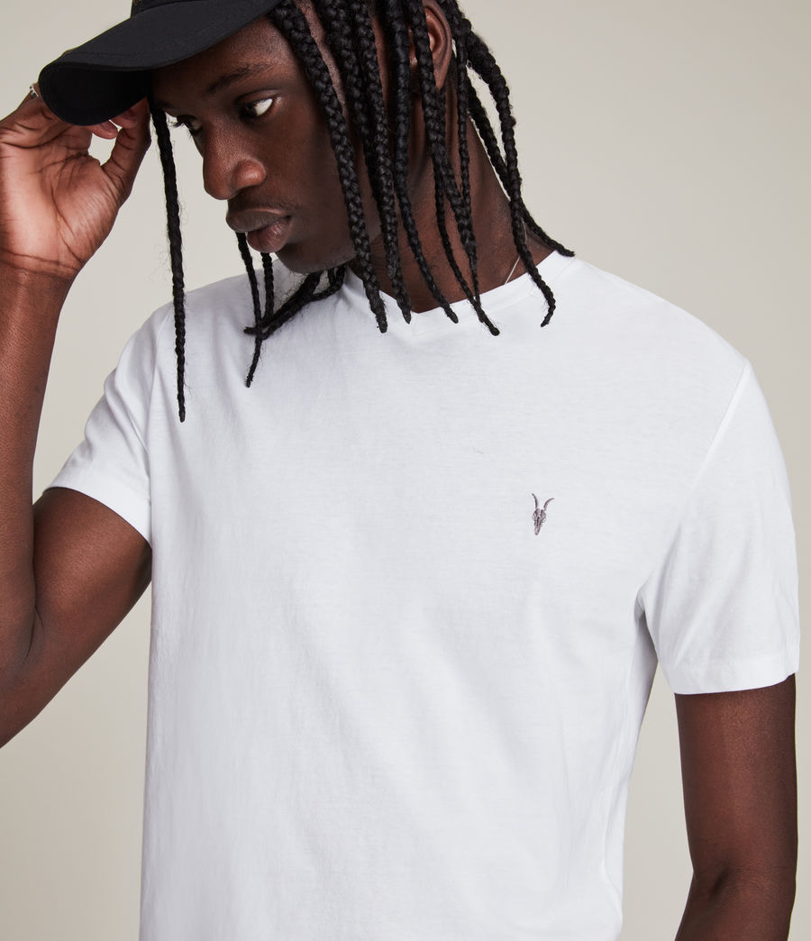 Uomo T-shirt Tonic V-neck (Optic White) - Image 2