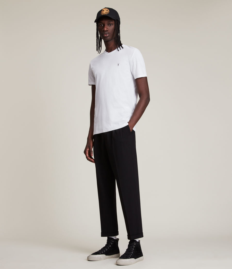 Uomo T-shirt Tonic - Slim in cotone con scollo a V (optic_white) - Image 3