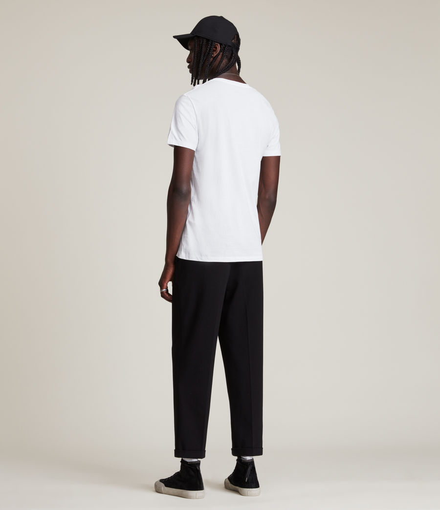 Uomo T-shirt Tonic - Slim in cotone con scollo a V (optic_white) - Image 4