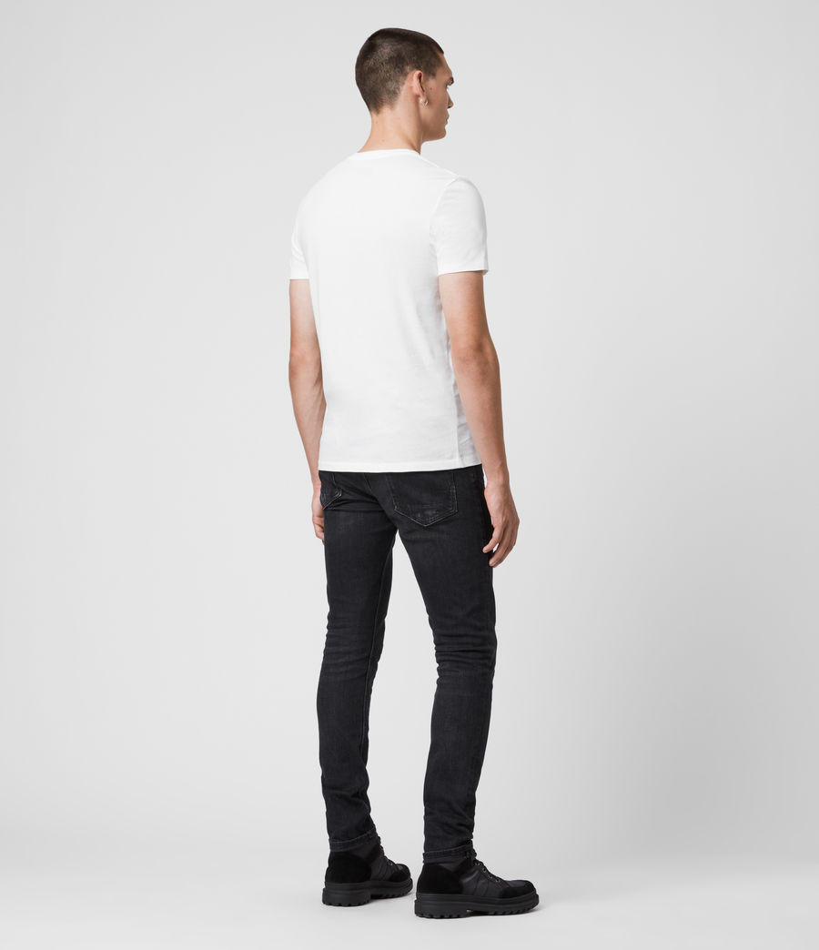 Uomo T-shirt Tonic - Slim in cotone con scollo a V (optic_white) - Image 5