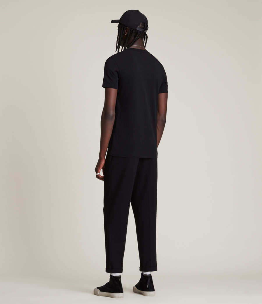 Uomo T-shirt Tonic - Slim in cotone con scollo a V (jet_black) - Image 4