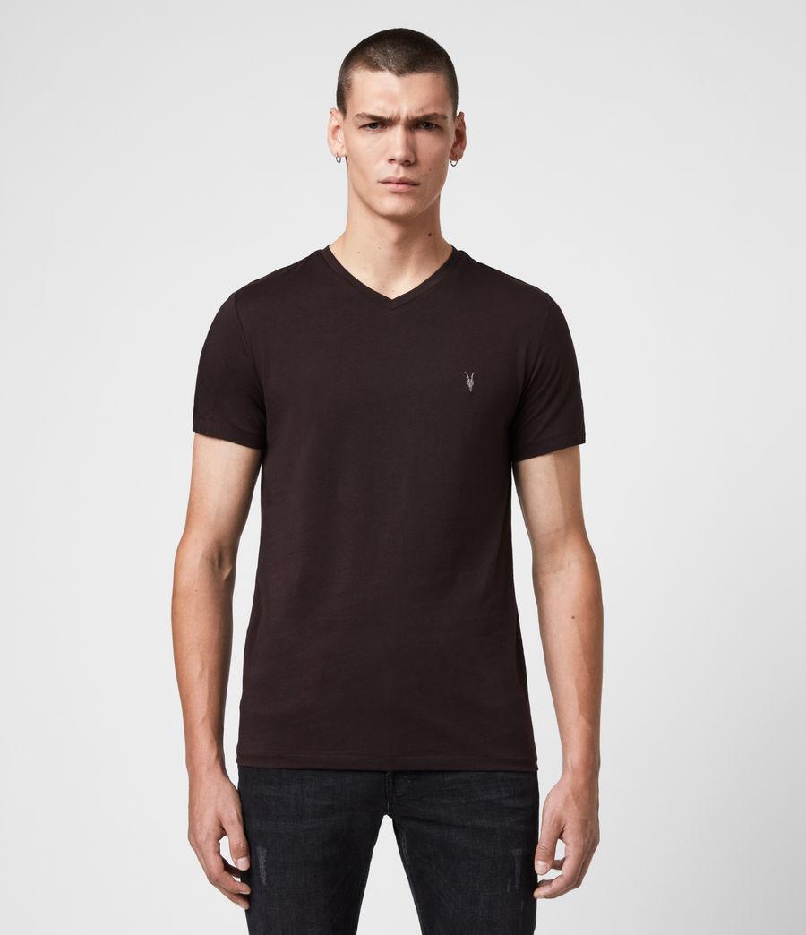 Hombres Camiseta con Cuello de Pico Tonic V (ash_blue) - Image 1