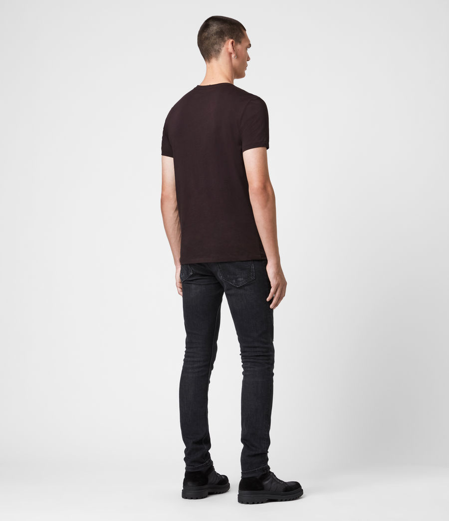 Hommes T-Shirt Manches Courtes & Col V Tonic (mahogany_red) - Image 5