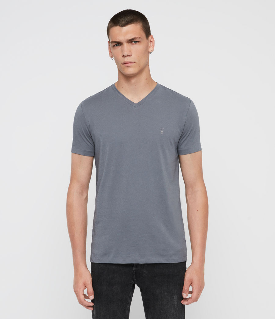 Mens Tonic V-Neck T-Shirt (ash_blue) - Image 1
