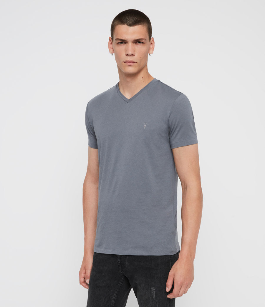 Mens Tonic V-Neck T-Shirt (ash_blue) - Image 3