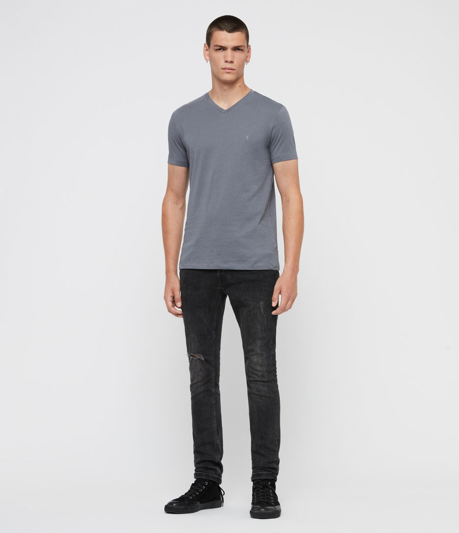 Mens Tonic V-Neck T-Shirt (ash_blue) - Image 4