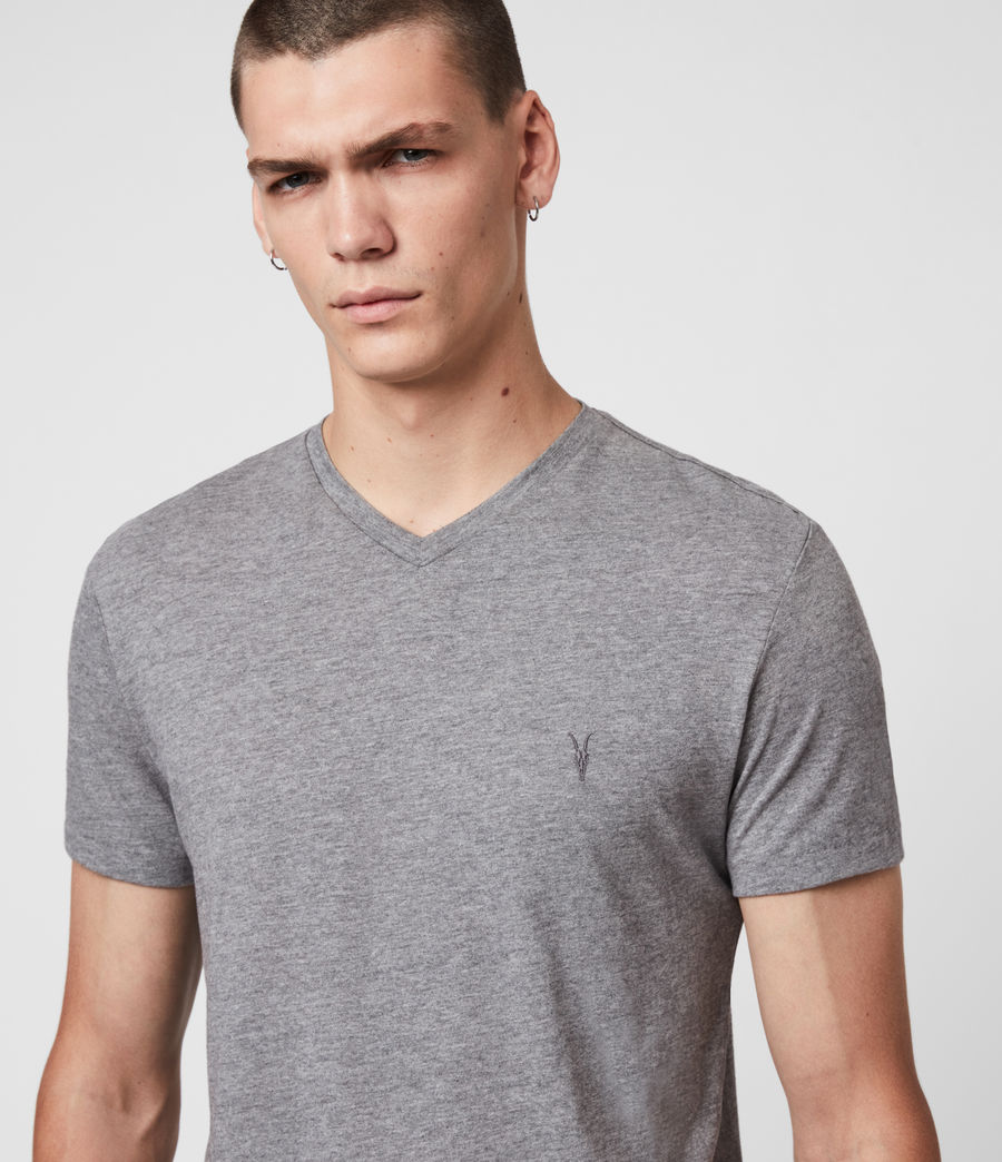 Men's Tonic V-neck T-Shirt (soot_grey_marl) - Image 2