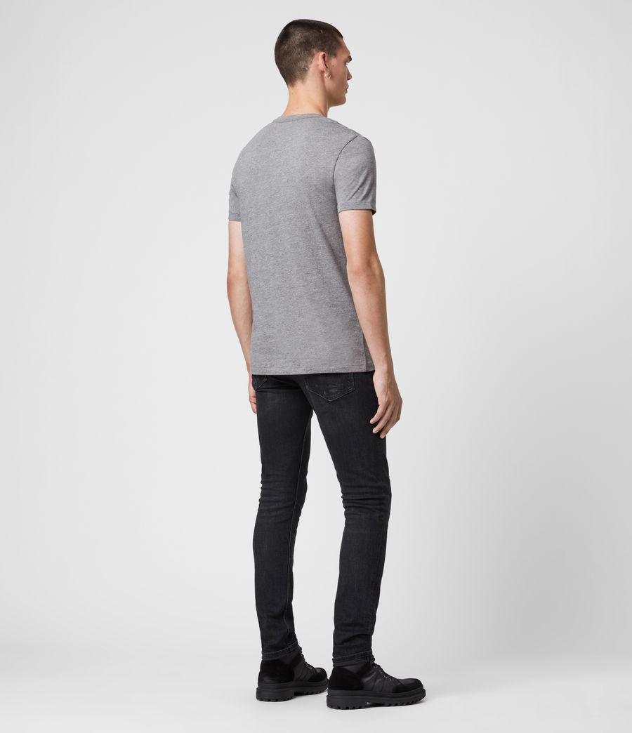 Mens Tonic V-neck T-Shirt (soot_grey_marl) - Image 4
