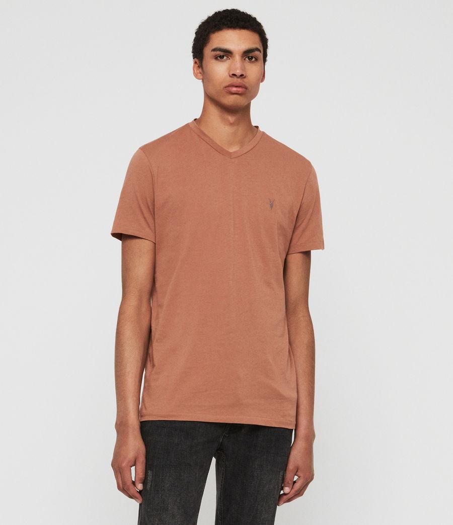 Hombres Camiseta con Cuello de Pico Tonic V (soot_grey_marl) - Image 1