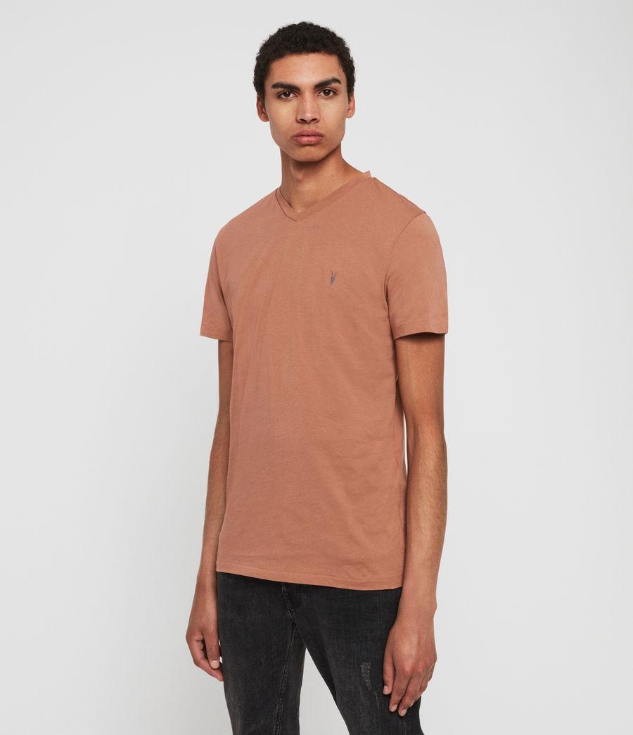 Hombres Camiseta con Cuello de Pico Tonic V (soot_grey_marl) - Image 3
