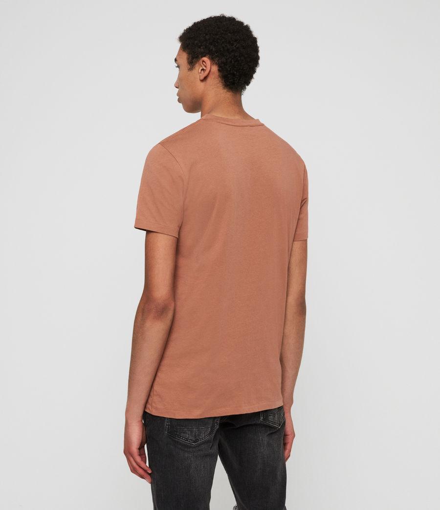 Hombres Camiseta con Cuello de Pico Tonic V (soot_grey_marl) - Image 4