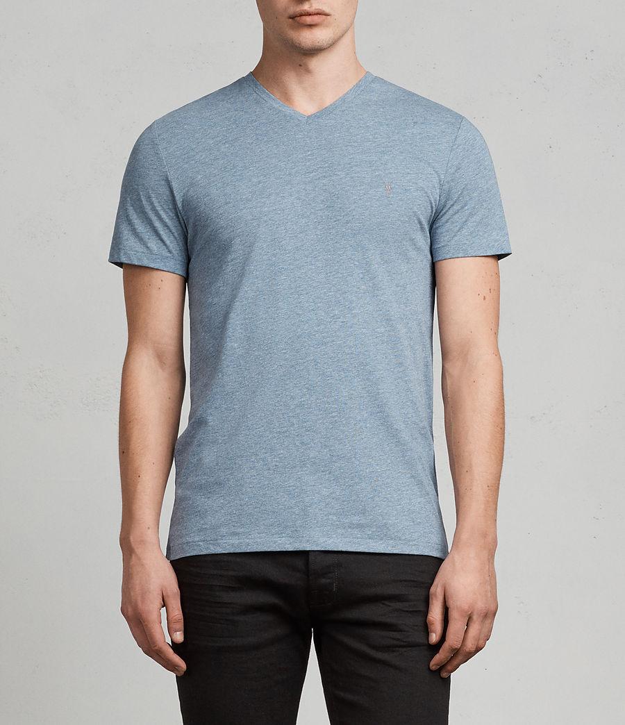 Uomo T-shirt Tonic V-neck (aqua_blue_marl) - Image 1