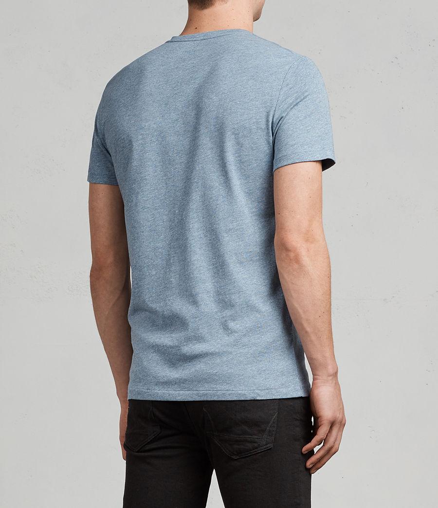 Uomo T-shirt Tonic V-neck (aqua_blue_marl) - Image 4