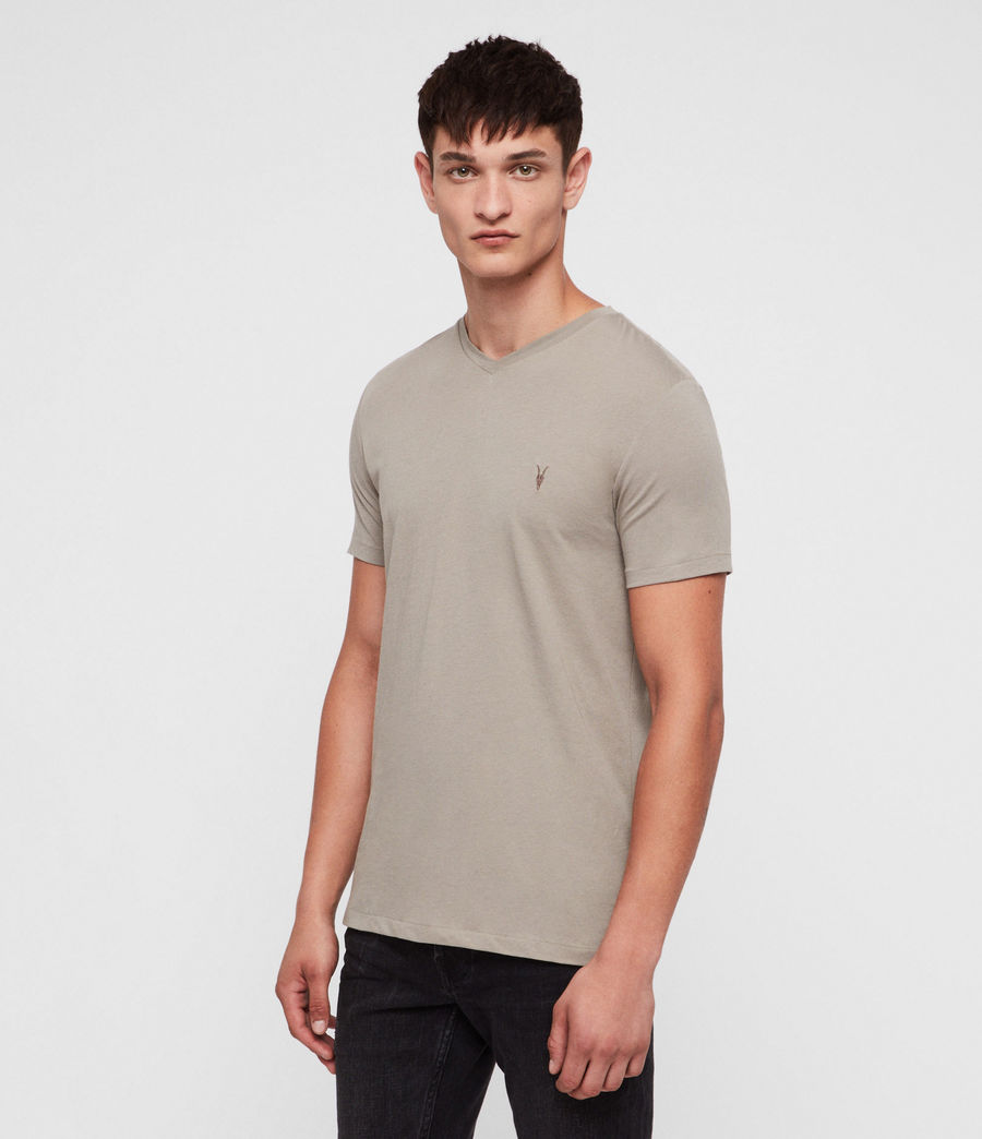 Hommes T-Shirt Tonic Col V (mine_grey) - Image 1