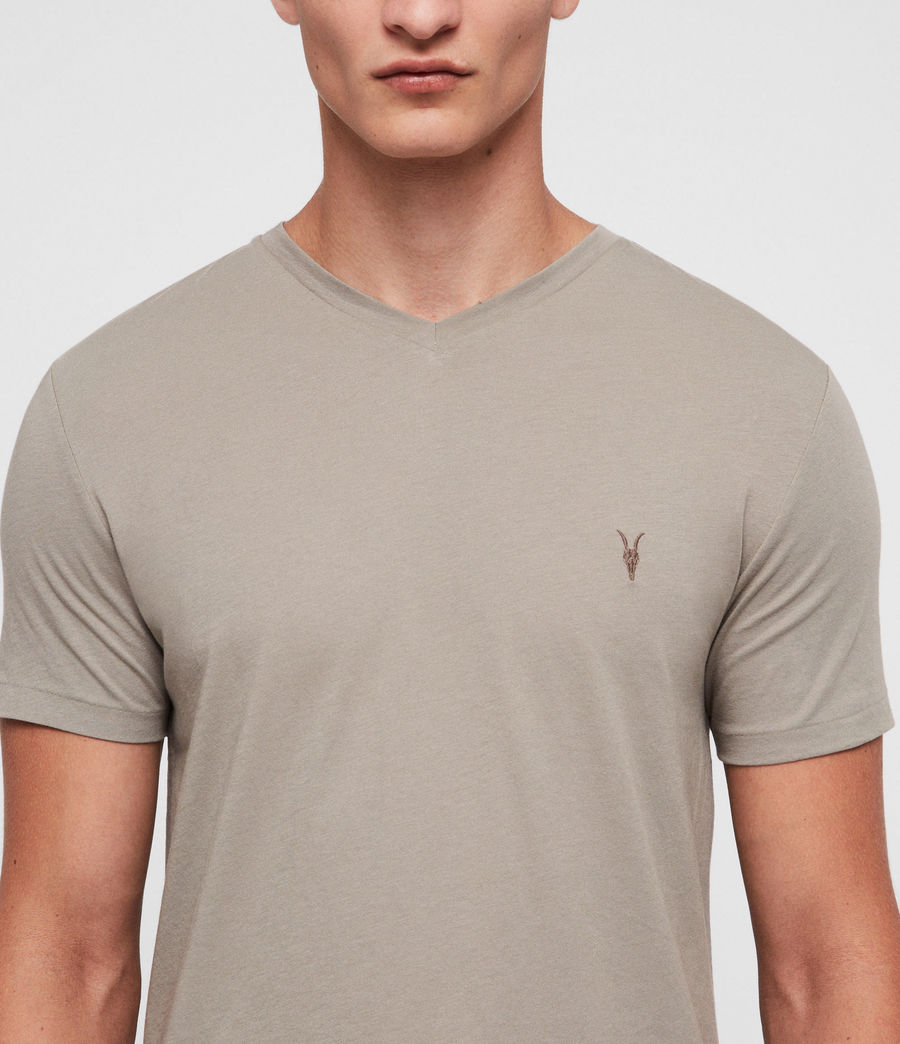 Hommes T-Shirt Tonic Col V (mine_grey) - Image 2