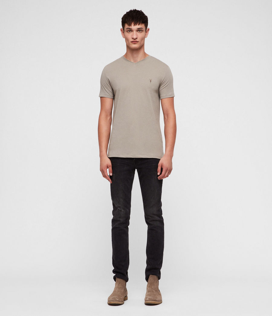 Mens Tonic V-neck T-Shirt (mine_grey) - Image 3
