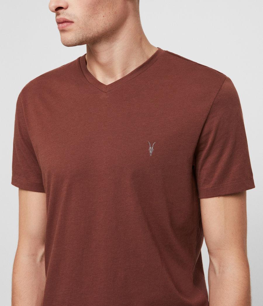 Men's Tonic V-neck T-Shirt (cedar_red) - Image 2