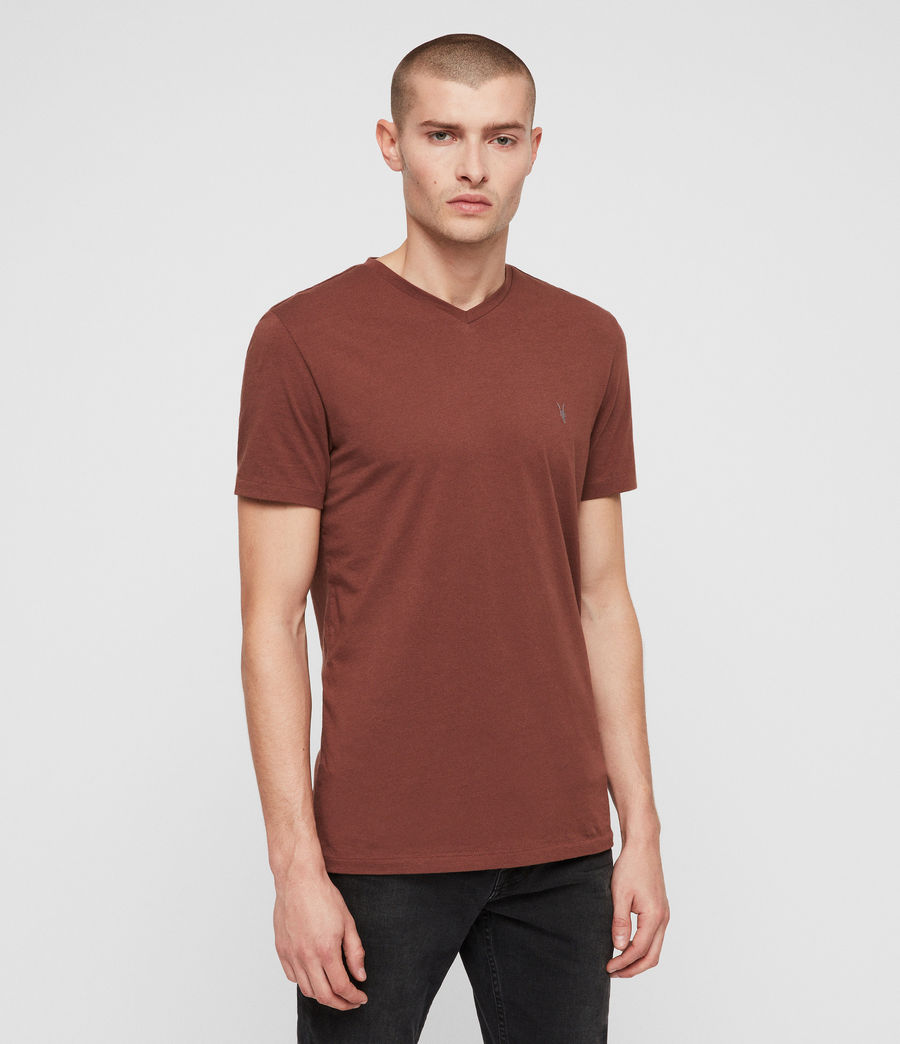 Men's Tonic V-neck T-Shirt (cedar_red) - Image 4
