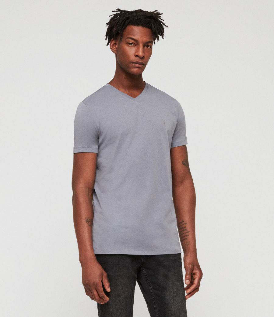 Men's Tonic V-Neck T-Shirt (detroit_blue) - Image 1