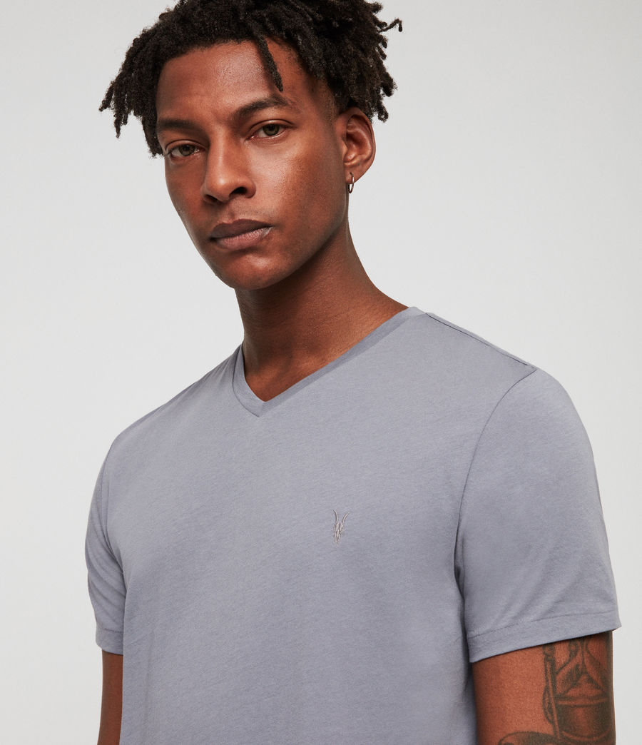 Men's Tonic V-Neck T-Shirt (detroit_blue) - Image 2