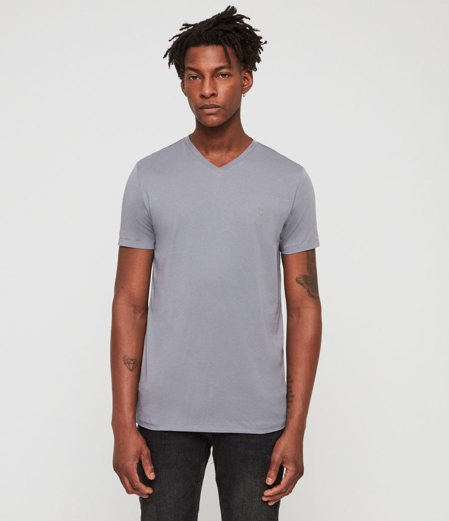 Men's Tonic V-Neck T-Shirt (detroit_blue) - Image 3