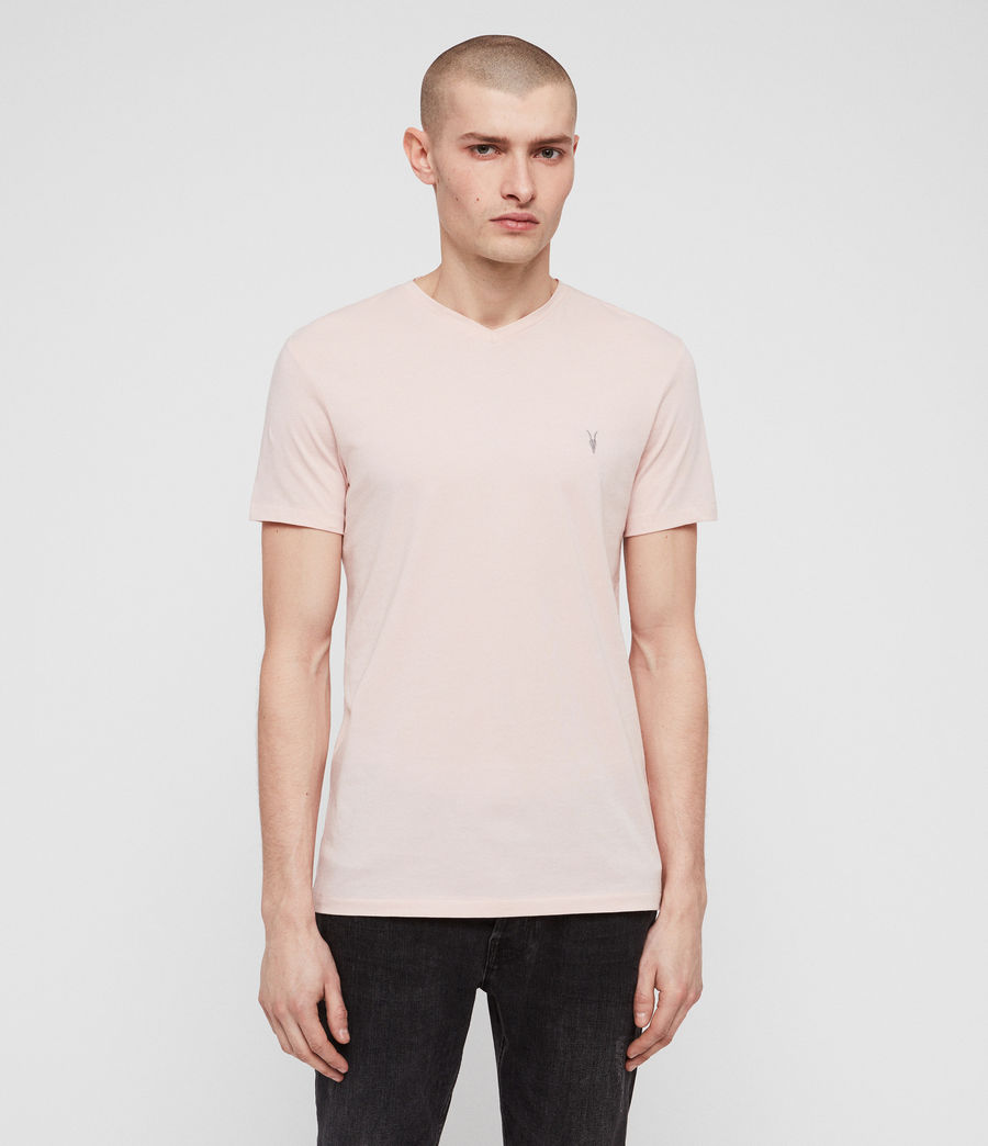 Herren Tonic V-Neck T-Shirt (bleach_pink) - Image 1