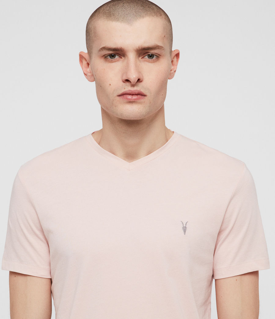 Herren Tonic V-Neck T-Shirt (bleach_pink) - Image 2