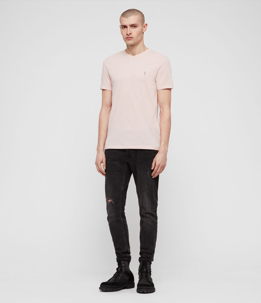Herren Tonic V-Neck T-Shirt (bleach_pink) - Image 3