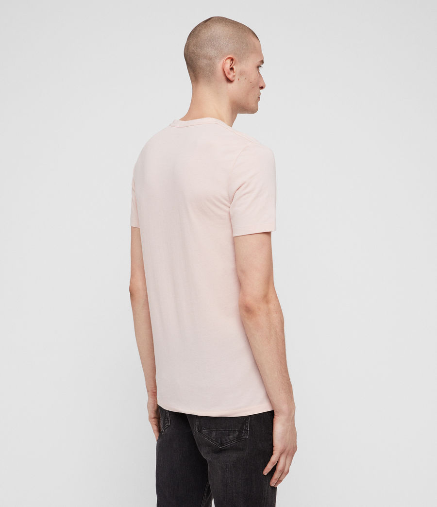 Herren Tonic V-Neck T-Shirt (bleach_pink) - Image 5