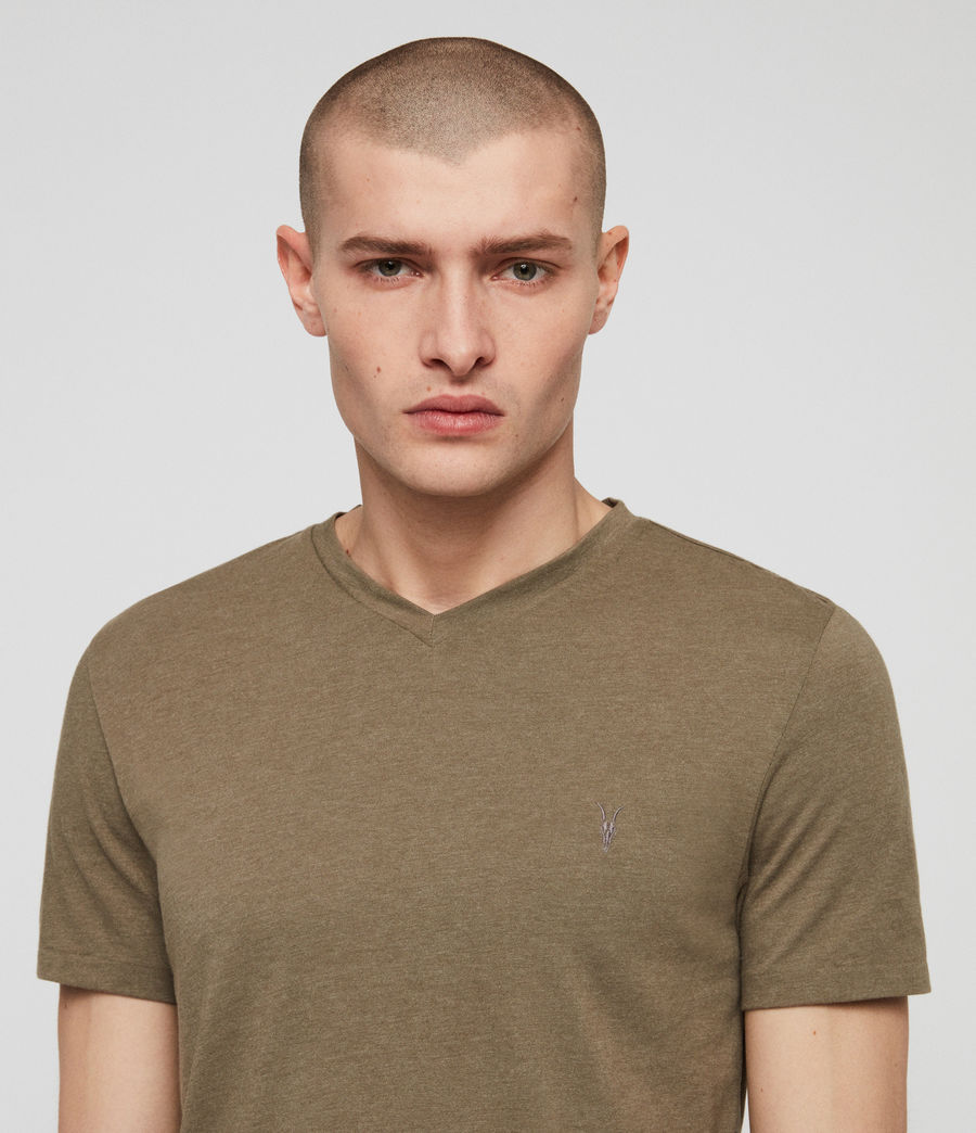 Men's Tonic V-neck T-Shirt (bark_green_marl) - Image 2