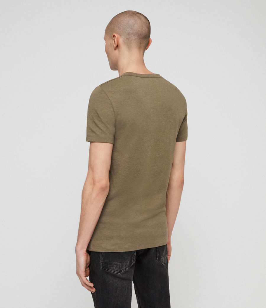 Mens Tonic V-Neck T-Shirt (bark_green_marl) - Image 4