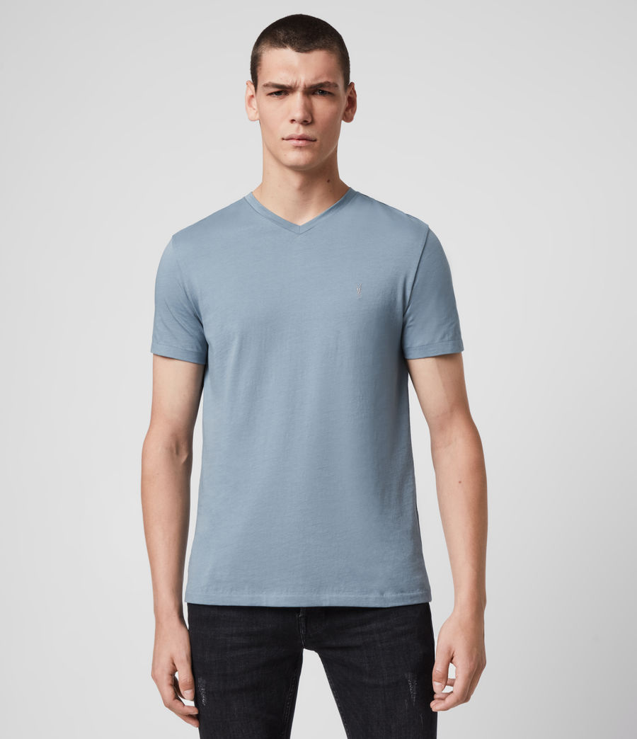 Men's Tonic V-Neck T-Shirt (haze_blue) - Image 1