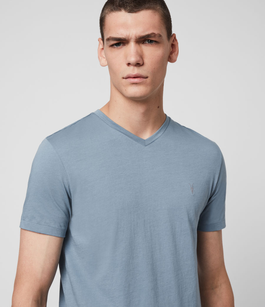 Men's Tonic V-Neck T-Shirt (haze_blue) - Image 2