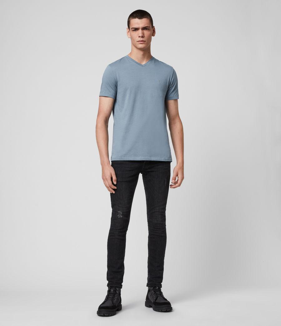 Men's Tonic V-Neck T-Shirt (haze_blue) - Image 3