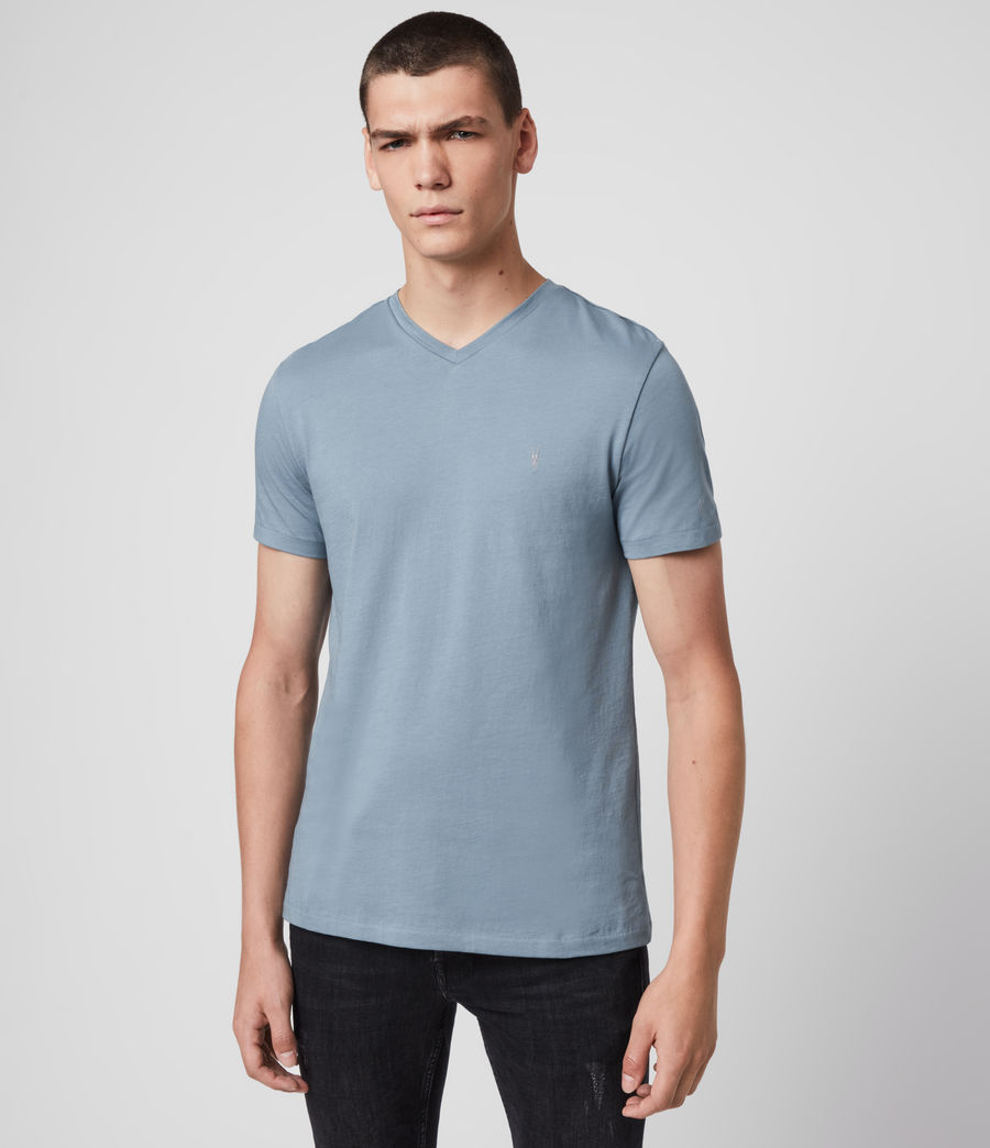Men's Tonic V-Neck T-Shirt (haze_blue) - Image 3