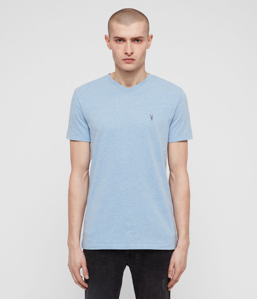 Men's Tonic V-Neck T-Shirt (lt_atlanticblue_ml) - Image 1