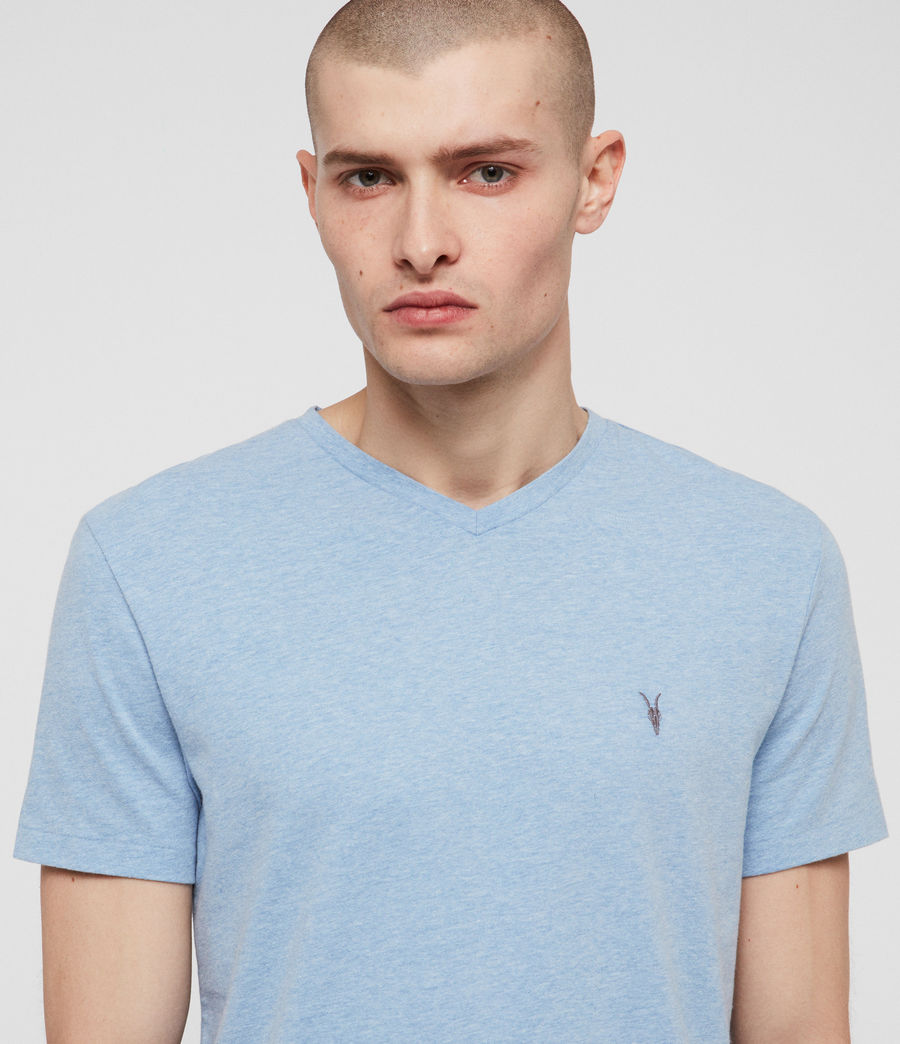Men's Tonic V-Neck T-Shirt (lt_atlanticblue_ml) - Image 2