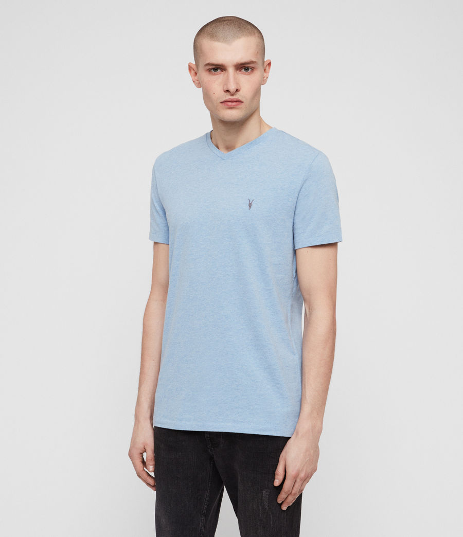 Men's Tonic V-Neck T-Shirt (lt_atlanticblue_ml) - Image 4