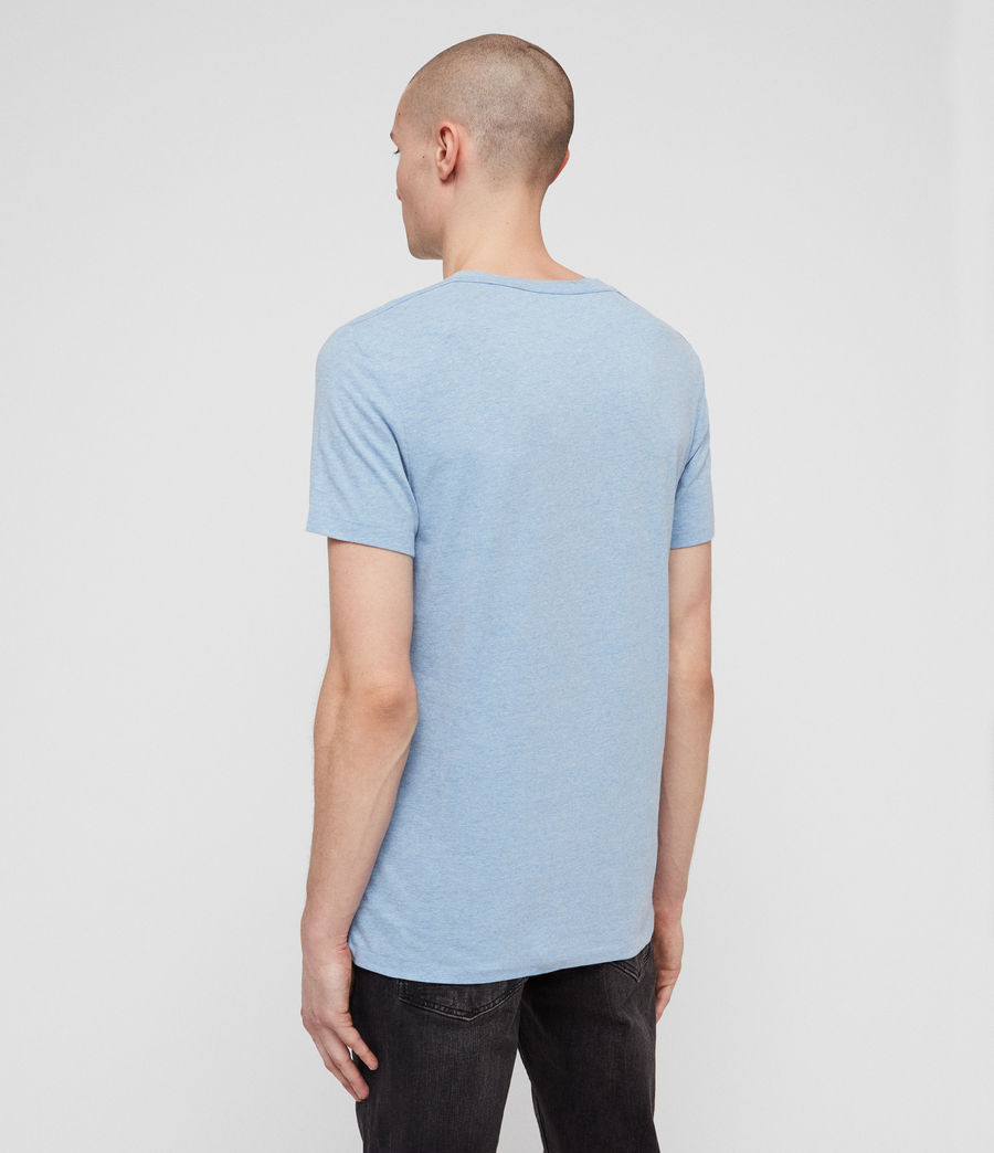 Men's Tonic V-Neck T-Shirt (lt_atlanticblue_ml) - Image 5